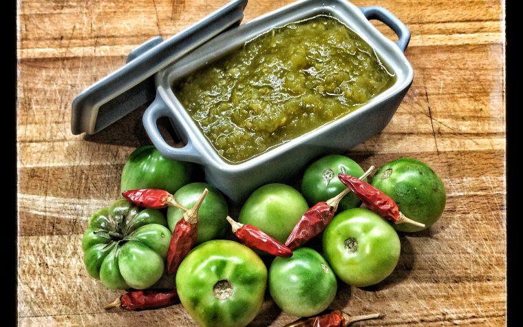 Chutney piccante di pomodori verdi e cipolla di Tropea