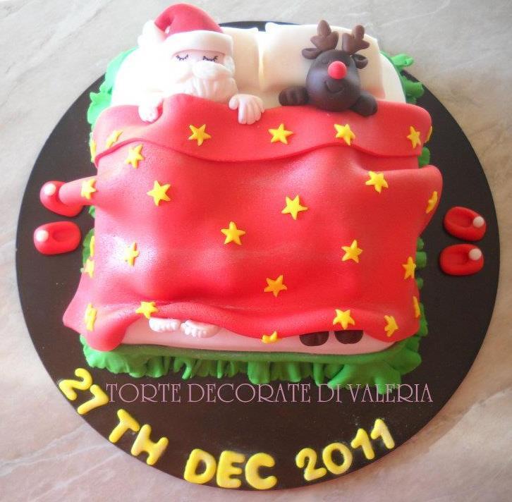 Torta il riposo di babbo natale e rudolph torte - Torte natalizie decorate ...