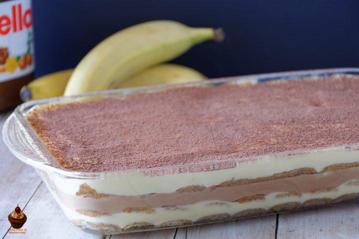tiramisù nutella e banane