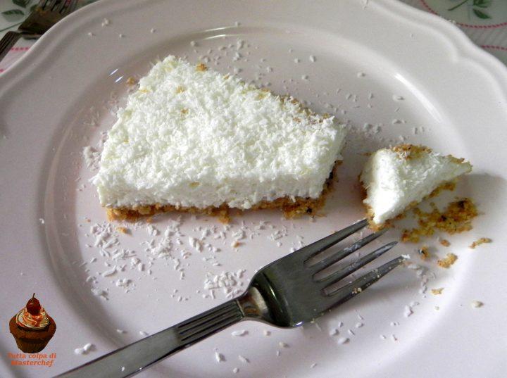 Cheesecake light yogurt e cocco