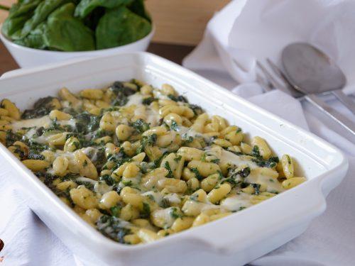 Pasta con spinaci e taleggio