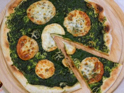 Pizza scamorza e spinaci