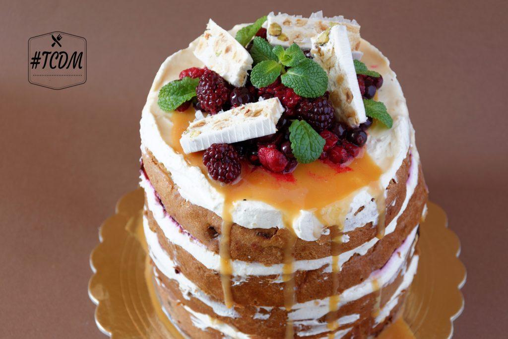 naked cake al panettone
