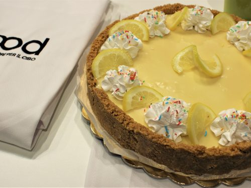 Finta crostata al limone e cioccolato bianco