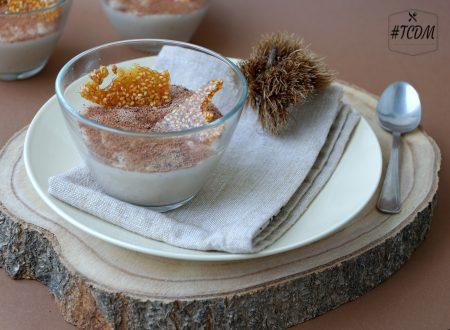 Crema di castagne con croccantino ai semi di sesamo