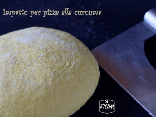 Impasto per pizza alla curcuma