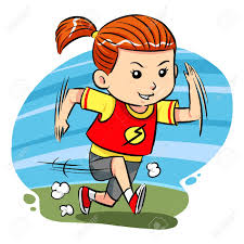 ragazza che corre