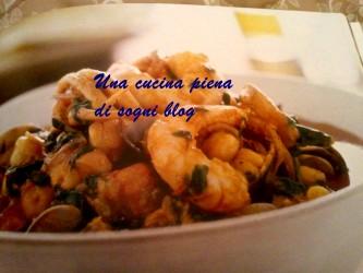 Zuppa di pesce e ceci