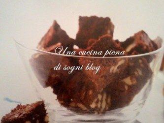 Mini Brownies alle noci e cioccolato al latte