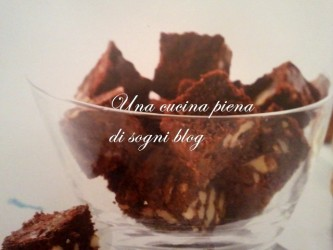 Mini Brownies alle noci e cioccolato al latte
