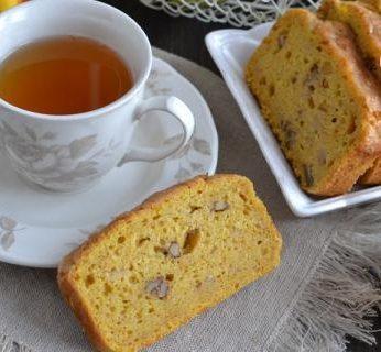 Ricette Senza: Plumcake zucca, mela e noci