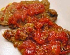 Secondi di carne: carne alla pizzaiola