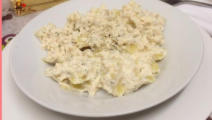 Primi Piatti: Pasta con salmone e ricotta
