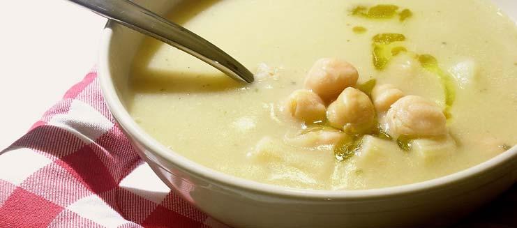Zuppe: zuppa di ceci e patate