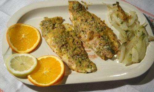 Secondi piatti di Pesce: Trota all'arancia