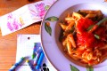 Pasta con sugo e fagiolini