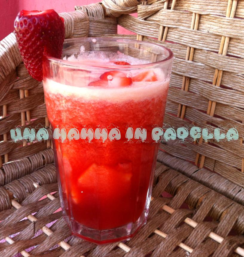 Centrifugato anguria e fragole
