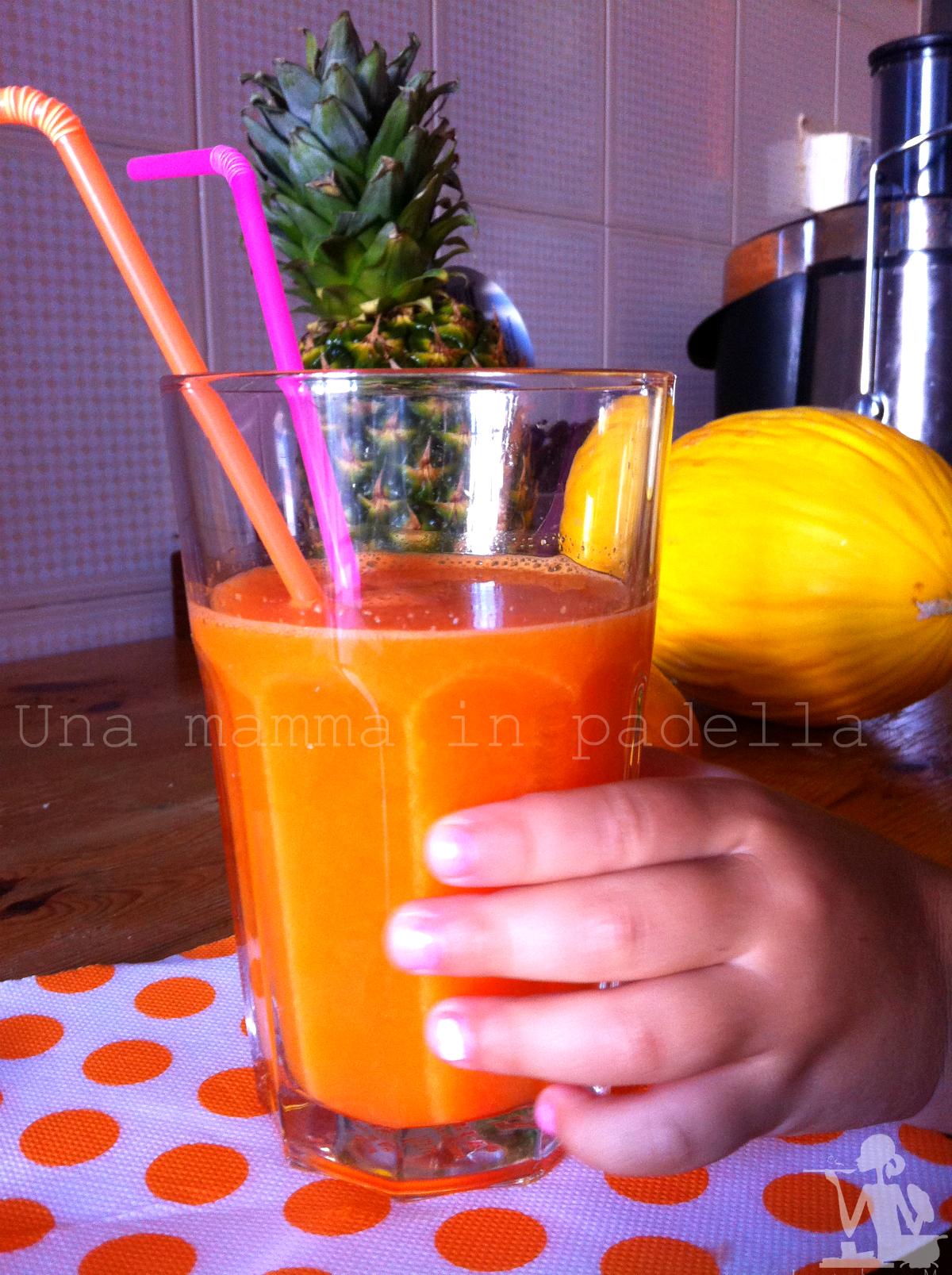 Succo di arancia e carote