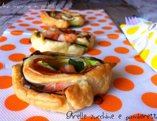 Girelle zucchine gamberi e speck – ricetta veloce