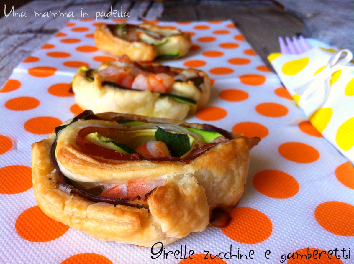 Girelle zucchine gamberi e speck - ricetta veloce