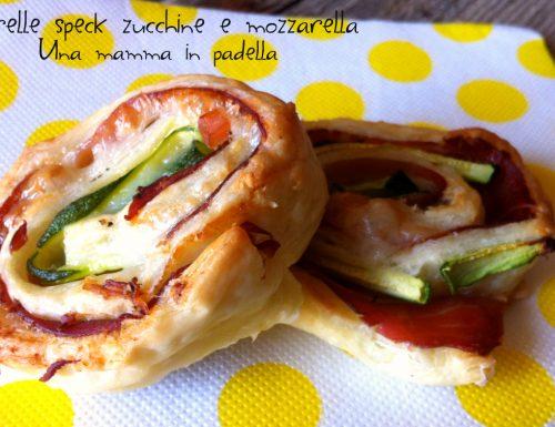 Girelle speck zucchine e mozzarella – ricetta semplice e veloce