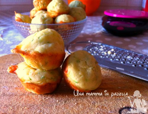 Mini muffin crudo mozzarella e rucola