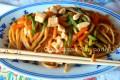 Spaghetti integrali pollo e verdure
