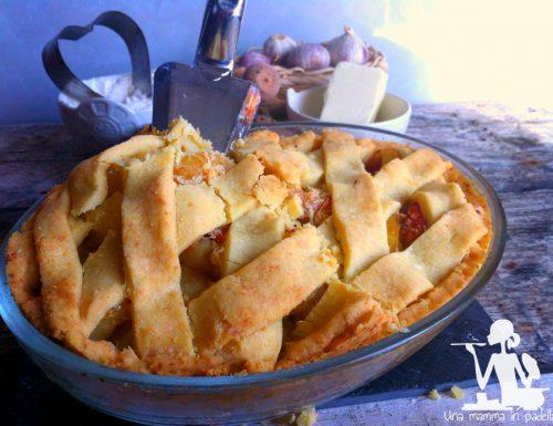 Crostata salata cotto e patate