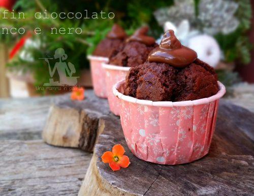 Muffin cioccolato bianco e nero