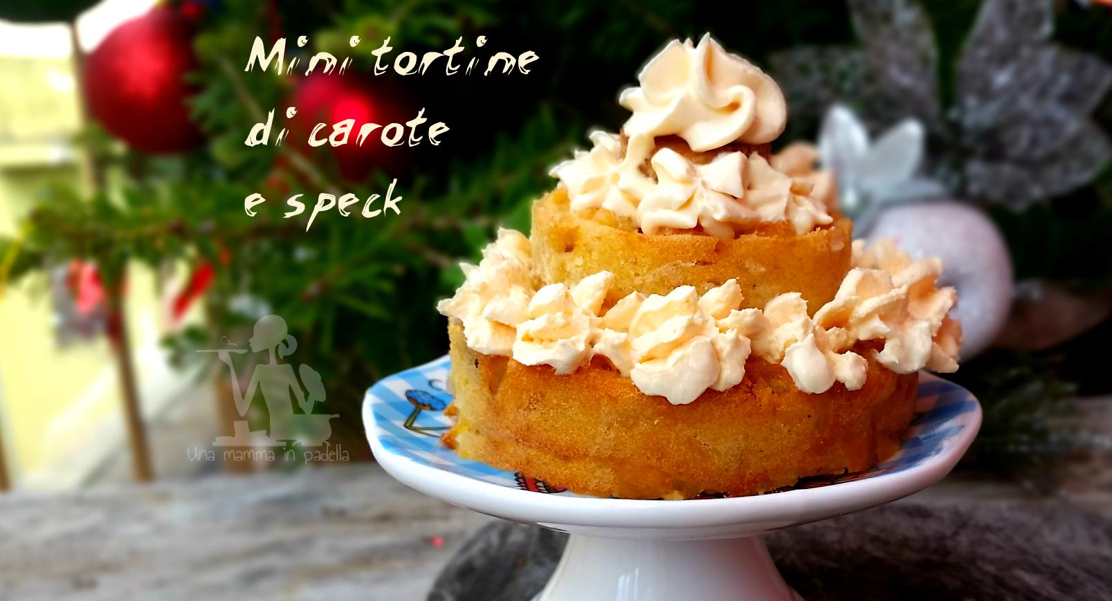 Mini tortine di carote e speck