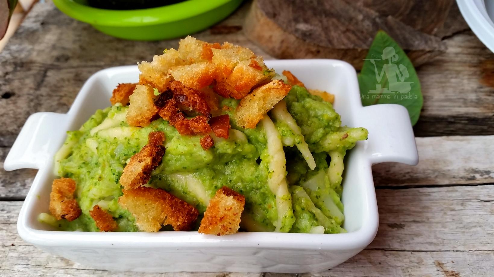 Trofie con crema di broccoli