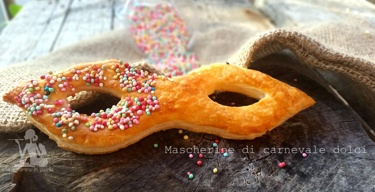 Mascherine di carnevale dolci