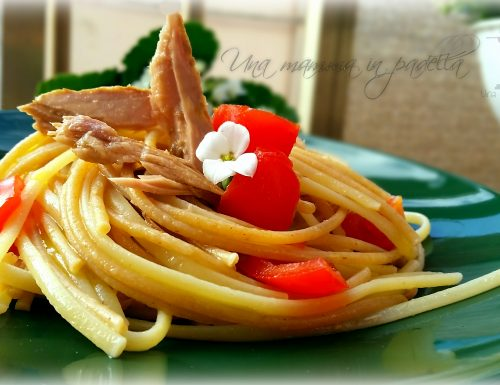 Spaghetti tonno e timo