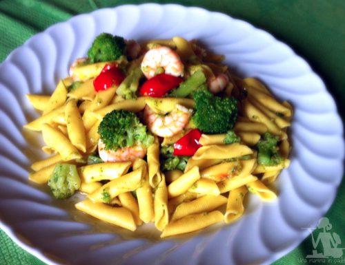 pasta broccoli e gamberetti