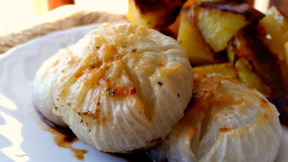 Cipolle al forno al parmigiano