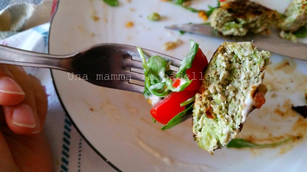 Schiacciatine pollo e broccoli