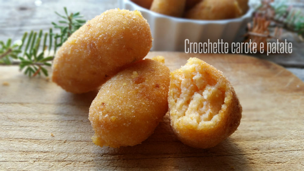 Crocchette carote e patate