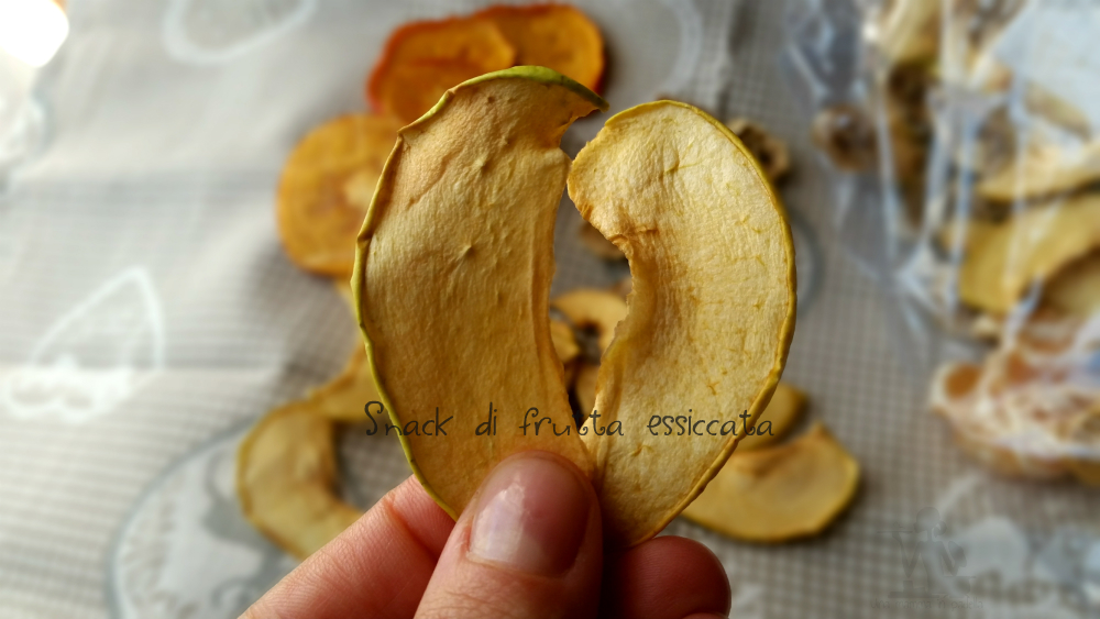 Snack di frutta essiccata