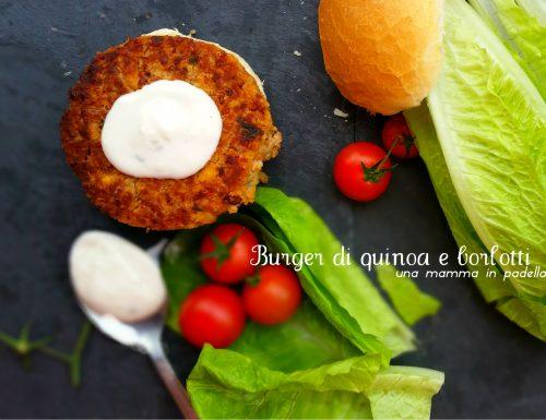 Burger di quinoa e borlotti