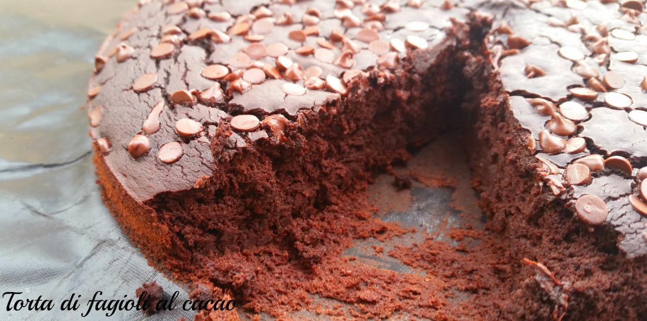 torta di fagioli al cacao