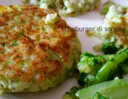 Hamburgher di sorgo e broccoli