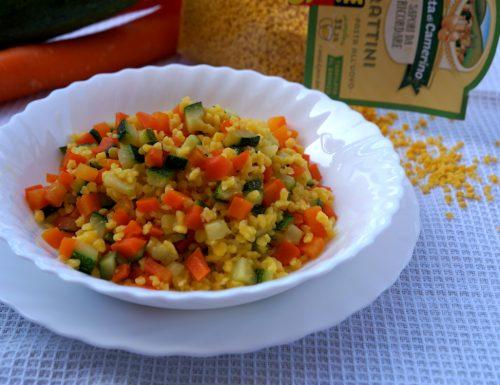 finto cous cous zucchine e carote