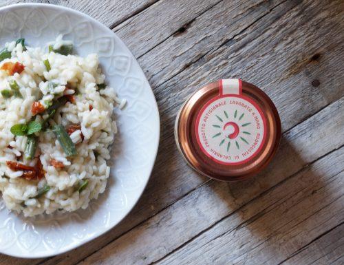 Risotto fagiolini e pomodori secchi