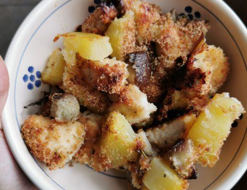 Bocconcini di pollo e patate croccanti