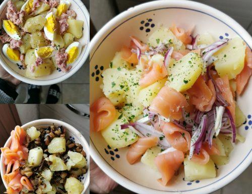 tre insalate di patate facili e veloci