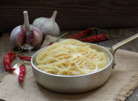 Spaghetti risottati, aglio olio e peperoncino