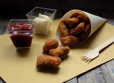 Bocconcini di pollo fritti.