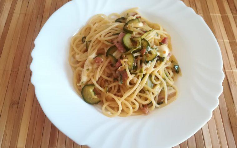 Spaghetti alle zucchine affumicate