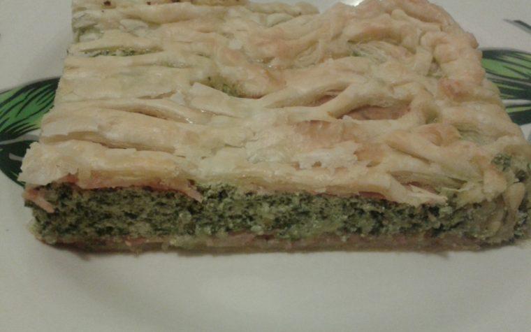 Torta salata con ricotta spinaci e prosciutto