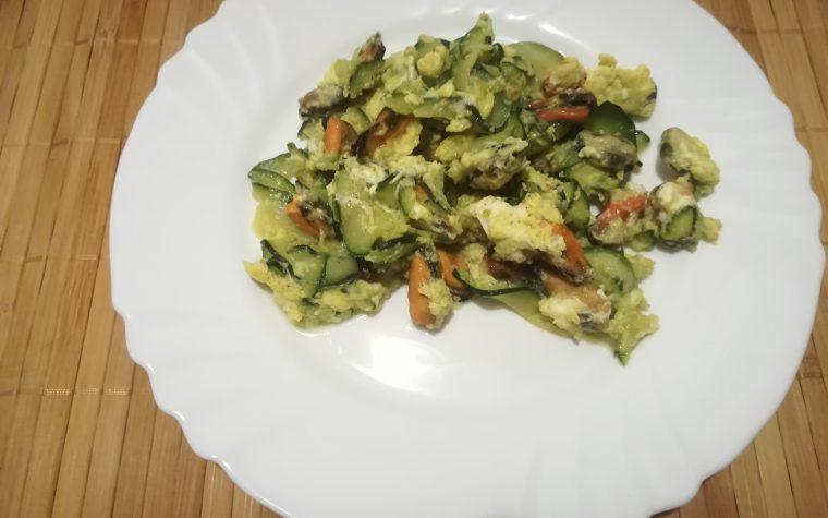 Zucchine e cozze strapazzate